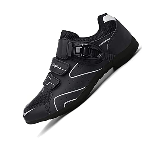 WYUKN Cycling shoes men MTB shoes cycling shoes road cycling shoes Flat without click system without shoe plate,Weiß-38EU