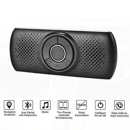 FEZBD Vivavoce Bluetooth Kit Auto Visiera con sensore di Movimento Auto Power on, Vivavoce Wireless in-Car Speakerphone