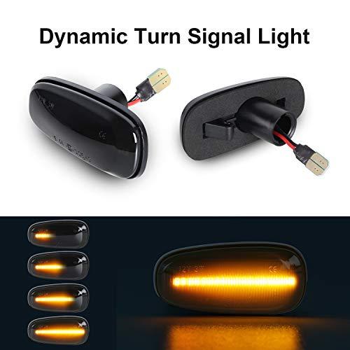 Dynamische Blinker OZ-LAMPE Seitenmarkierung Fließende Seitenmarkierungen Rauch Für O-Pel Zafira A Astra G