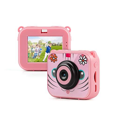 TAOCOCO Cámara para niños, cámara HD 1080P, cámara de 2 megapíxeles, cámara de Buceo para niños 30M, cámara Impermeable para niños-Rosado