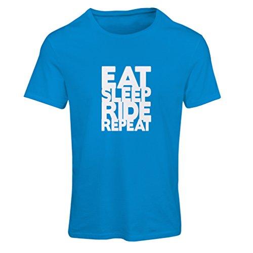 lepni.me Dames T-shirt Eet Sleep Ride Herhaal - voor Bikers - Bike Lover Quotes