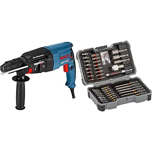 Bosch Professional GBH 2-26 F - Martillo perforador, Mandril de Cambio SDS-Plus + Bosch 2 607 017 164 Set de 43 Unidades para atornillar y Llaves de Vaso
