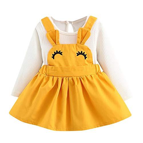 Vestido niña otoño Invierno 2018, Infantil Recién Nacido bebé niña pestaña Curvy Conejo Oreja Honda Princesa Vestido Trajes de Ropa de Manga Larga