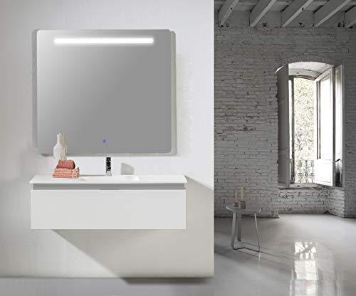 Modulintel Conjunto de baño ROCA, Melamina, Blanco, 80 cm