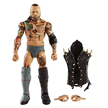 WWE Aleister Black Elite Series #73 Deluxe Action Figure with Realistic Facial Detailing Iconic Ring Gear & Accessories