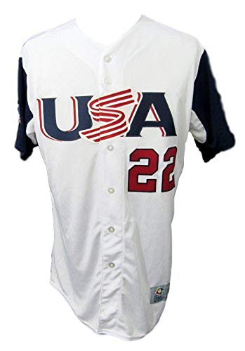 Andrew McCutchen PHILLIES USA Team Signed White Jersey MLB Hologram 140593 - Autographed MLB Jerseys