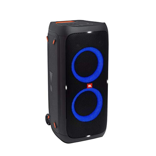 JBL PartyBox 310 in Schwarz – Trag- und rollbarer Bluetooth Party-Lautsprecher mit Lichteffekten – Spritzwassergeschützte, mobile Musikbox mit Akku