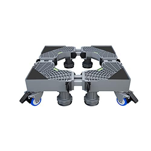 Soporte Lavadora con 4 Ruedas Giratorias Base Móvil Ajustable Secadora Ancho 66-76cm Pedestal frigoríficos para Bastidor Inferior Altura 10-14cm Pedestal para lavavajillas