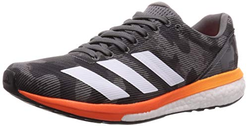 adidas Herren Adizero Boston 8 Laufschuhe, Grau (Grey Four F17/Ftwr White/Flash Orange Grey Four F17/Ftwr White/Flash Orange), 43 1/3 EU