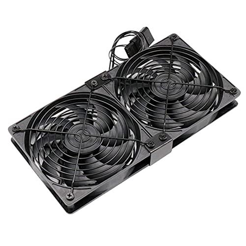 YEEGO Lood 1/2/3pcs Mute PWM Ventilador controlado por temperatura Gabinete Refrigerado por agua Ventilador de refrigeración para Bitcoin Mining