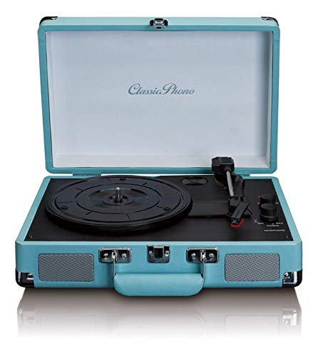 Tocadiscos LENCO TT-11BU Color Azul, Retro, 3 velocidades,