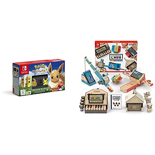 Pack Switch Pokemon Let's go Evee + Kit Labo Multikit