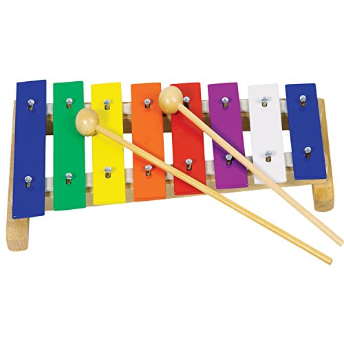 Glockenspiel en bois et métal avec maillets