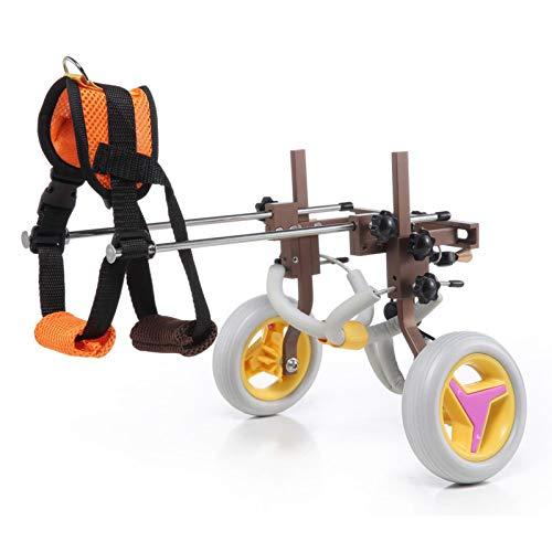 Silla de ruedas para mascotas, ruedas ajustables para caminar Silla de ruedas para perros, rehabilitación de patas traseras livianas, aprobado por veterinarios, para patas traseras con discapacidad