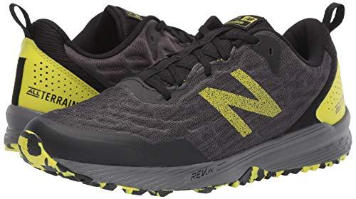 New Balance Men's Nitrel V3 Trail Running Shoe, Black/Yellow, 11 D US 3
