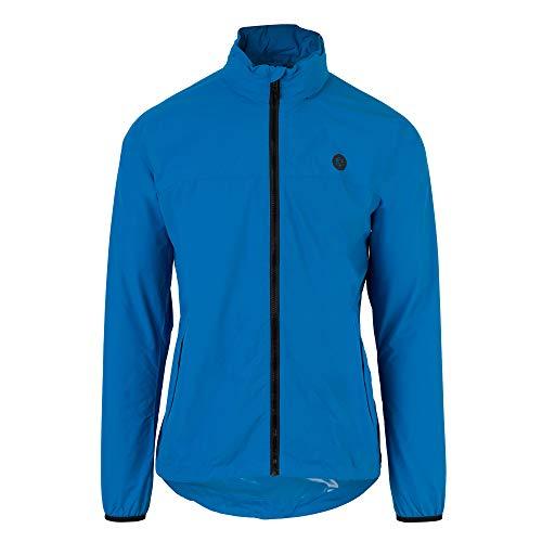 AGU GO Essential Regenjacke Damen & Herren, Fahrradjacke Wasserdicht & Winddicht, Atmungsaktiv, Reflektierend, Unisex, M, Blue