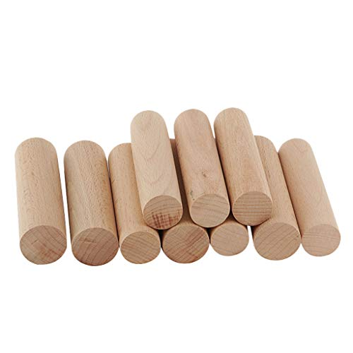 Hellery 10 Stück Unlackierte Holzstäbchen Holzdübel Stangen 28mm Durchmesser Handwerk Unvollendete Natürliche Holzstücke Für Hochzeit, Weihnachten, Urlaub