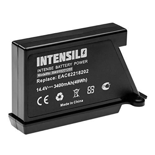 INTENSILO batería compatible con LG HomBot VR6270LVM, VR6270LVMB, VR63455LV, VR63475 aspiradora robot de limpieza (3400mAh, 14.4V, Li-Ion)