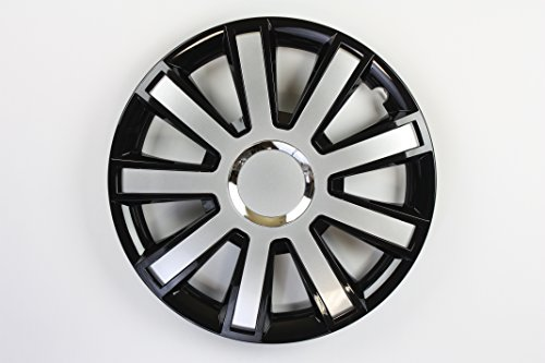 ZentimeX Z731757 Radkappen Radzierblenden universal 15 Zoll black silver