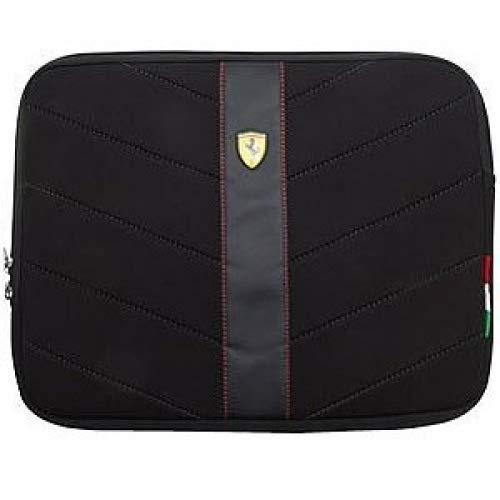 Scuderia Ferrari Neoprene Sleeve for 11-inch Laptops & Notebooks - Black