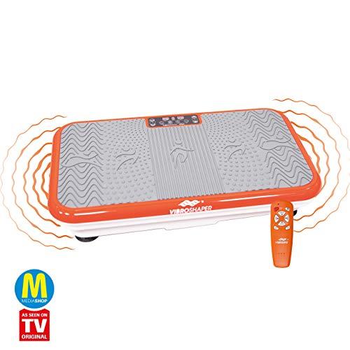 Mediashop VibroShaper – Fitness Vibrationsplatte bringt den Körper in Form – Vibrationstrainer für unterschiedliche Muskelgruppen – inklusive Fitnessbänder (orange ohne Griff)