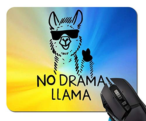 No Drama Llama Mouse Pad Non-Skid Natural Rubber Rectangle Mouse Pads Home Office Computer Gaming Mousepad Mat
