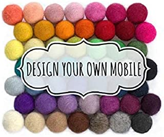 Design Your Own Felt Ball Mobile- Nursery Ceiling Mobile