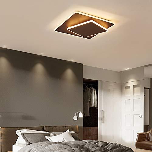 3000K-6000K LED Plafond Licht, Inbouw 36W Vierkante LED Lamp Van Het Plafond Voor De Keuken Slaapkamer Gang, Dimbaar Met Afstandsbediening,Brown