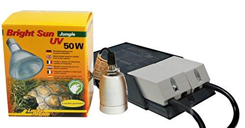 Lucky Reptile - Bright Sun UV Jungle 50 W Komplettset, Metalldampflampe inklusive passende Fassung und Vorschaltgerät