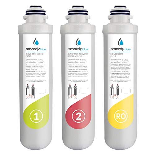 smardy blue 3in1 Ersatzfilter Set für Osmoseanlage R100 miran, xiva, noura, zagora und tata - Wechselinterwall alle 12 Monate