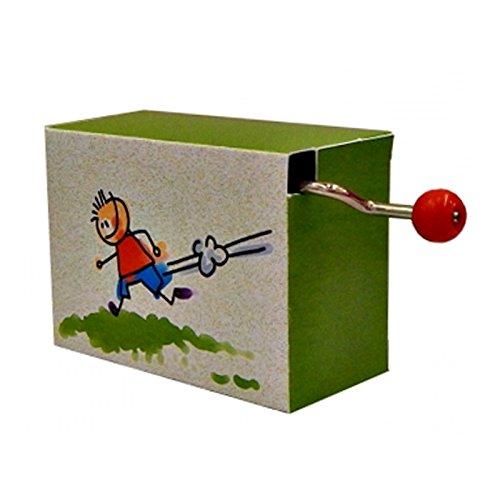 OLShop AG Kurbelwerk Spieluhr mit Handkurbel Hänschen klein ca. 6 x 4,5 x 3 cm, Drehorgel, Spieldose, Klangspiel, Leier, Musikdose