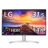 【Amazon.co.jp限定】LG フレームレス モニター ディスプレイ 32UN500-W 31.5インチ/4K/HDR/VA非光沢/HDMI×2、DP/FreeSync対応/スピーカー搭載/フリッカーセーフ、ブルーライト低減