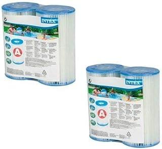 Intex N/AA tipo A cartucho de filtro para piscinas, paquete doble (4 paquetes), 2 unidades, marrón y A