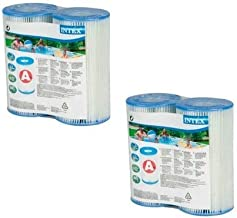 Intex N/AA Type A Filter Cartridge for Pools, Twin (4 Pack), 2, Brown/A