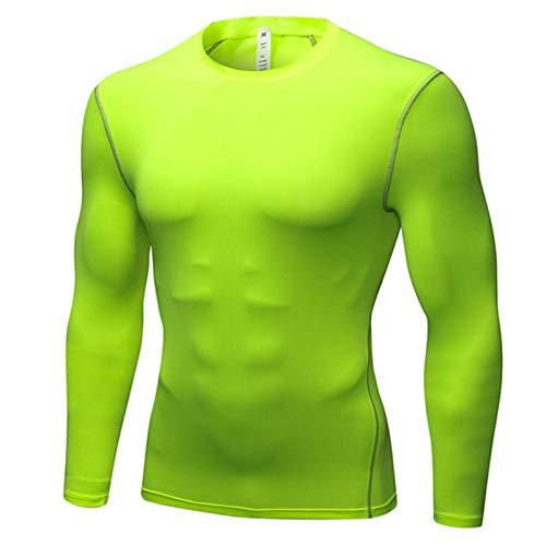 Crazynekos Camisetas de compresión de manga larga para hombre, de ajuste seco, para entrenamiento, camiseta básica