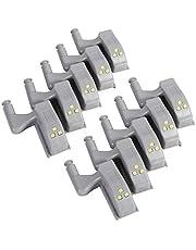 10 stks Wit Innerlijke Sensor Scharnier Led Licht Universele Kabinet Kast Kast Kledingkast Warm/Cool LED Scharnier Licht Thuis keuken Kast