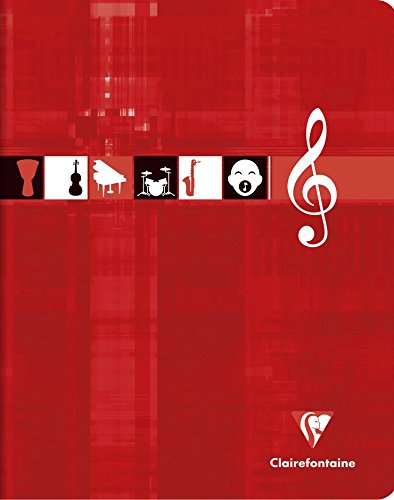 Clairefontaine - 3797C - 1 de música portátil y canción - 17 x 22-56 páginas Seyes