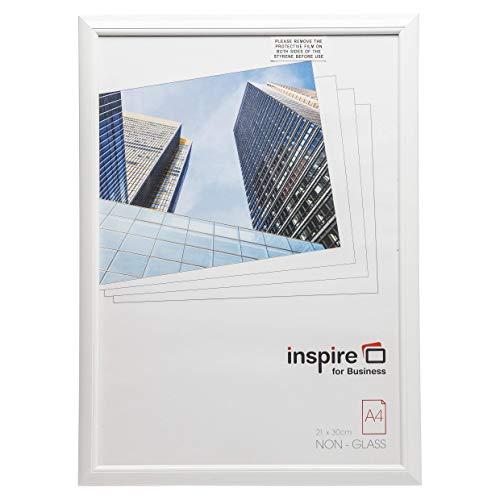 Easa4whp Pelle facile Cadre A4 certificat Cadre photo/photo/affiche en blanc NEUF avec non avant en verre