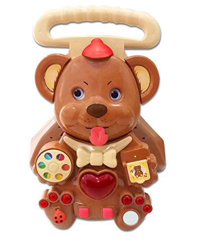 Toyzone Bear Activity Baby Walker -Multicolour