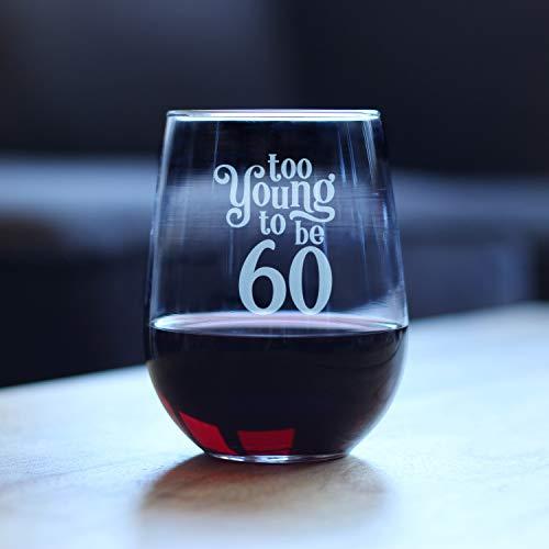 Generic Branded Weinglas - Too to Be 60 Upgrade Geätzt Obstbecher Good Touch speziell Dekoration