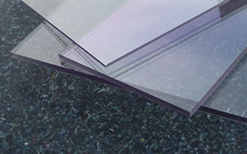 Polycarbonat UV Platte farblos 600 x 500 x 2 mm transparent