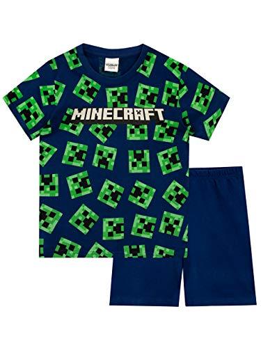 Minecraft Jungen Schlafanzug Blau 140