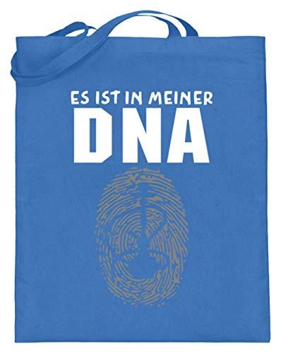 SPIRITSHIRTSHOP Es Ist In Meiner DNA. - Shisha, Schischa, Rauchen, Wasserpfeife, Pfeifen, Tabakrauchen - Jutebeutel (mit langen Henkeln) -38cm-42cm-Blau