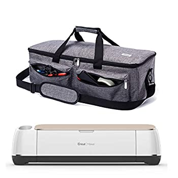 ARSH Carrying Case Compatible with Cricut Explore Air and Maker Tote Bag Compatible with Cricut Explore Air 2 and Silhouette Cameo 3,No Accessories Included  Grey