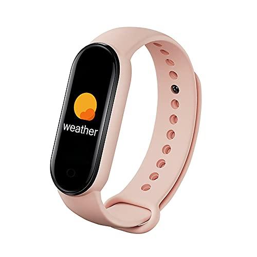 XINGX Reloj Inteligente M6 Pulsera Inteligente Monitor de Presión Arterial Frecuencia Cardíaca Pantalla a Color Pulsera Inteligente para Teléfono Móvil Adecuada para Niños Mujeres Y