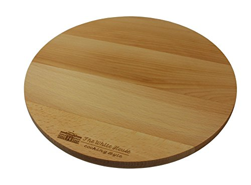 El plato giratorio de la cocina de la casa blanca Lazy Susan Beech Wood