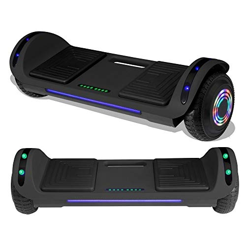TPS 6.5' Hoverboard Electric Self Balancing Scooter with LED Wheels and Lights - UL2272 Certified (Matte Black)