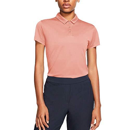 NIKE W Nk Dry Polo SS, Mujer, Pink Quartz/Pink Quartz, L