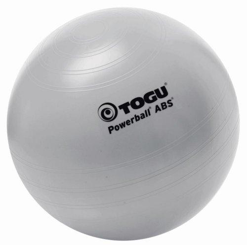 TOGU Powerball ABS Gymnastikball Fitness Bürostuhl Ball Turnen 45cm Silber