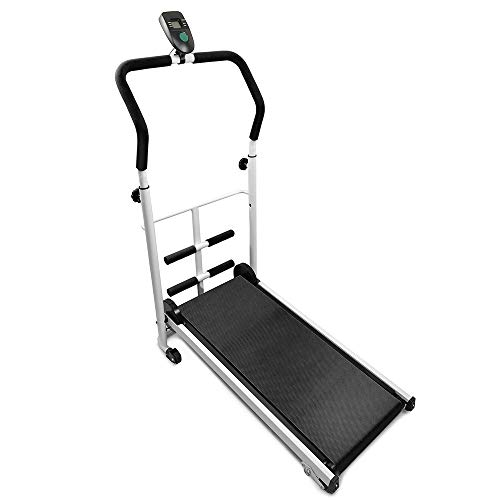 Flyelf Mini Manuale Tapis Roulant, con Display a LED Running, Sit-Up Fitness Famiglia 110 * 88 * 43,5 cm (Nero)
